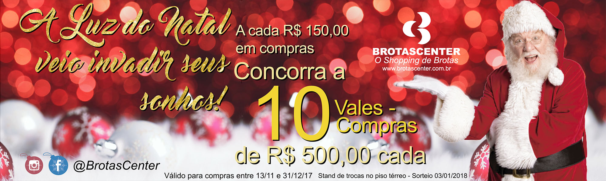 Natal é no Brotascenter!